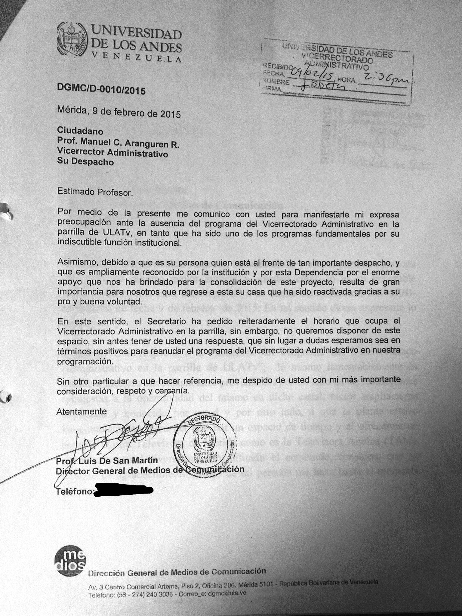 Gobernador asegura que ULA TV ejerce \
